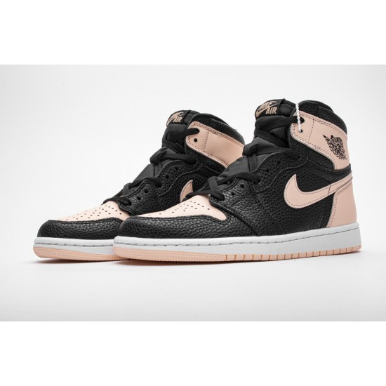 "Air Jordan 1 OG Hi Retro ""Crimson Tint"" 555088-081 Pink Black"