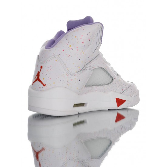 Women Air Jordan 5 Retro SE CT1605-100 White Red Purple