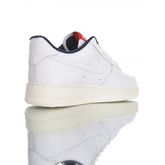 """Kith x Nike Air Force 1 '07 Low """"White/Blue-University Red"""" CU2980-193 White Blue"""
