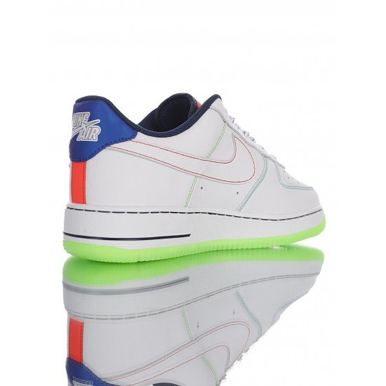 """Nike Air Force 1 '07 Low """"Outside The Lines"""" CV2421-100 White Green"""