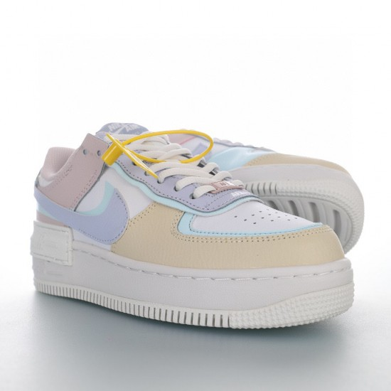 "Nike Air Force 1 Shadow ""Pastel"" CI0919-106 Purple Pink Blue"