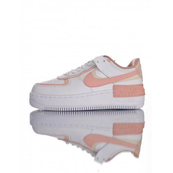 "Nike Air Force 1 Shadow ""Tropical Twist"" CJ1641-101 White Pink"