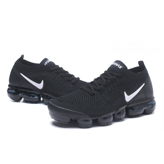 2018 Nike Air VaporMax Flyknit 2.0 W 942842-001 All Black White