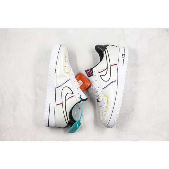 """Nike Air Force 1 '07 LV8 """"Day Of The Dead Black"""" CT1138-100 White Black"""